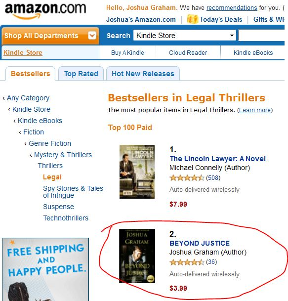 #1 legal thrillers